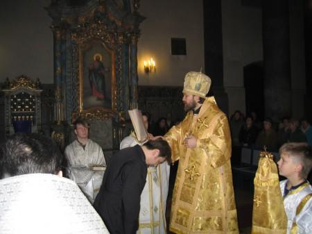 Рукоположение в диаконы 14 января 2007 г.